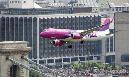Május 1-i Wizz Air repülőgép Duna feletti átrepülése